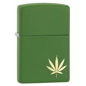 Accendino Zippo Foglia Marijuana a Benzina  | Pelusciamo.com