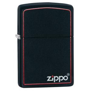 Accendino Zippo nero matte con logo    pelusciamo store
