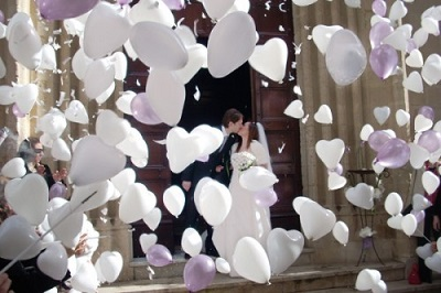 mongolfiere e palloncini matrimonio